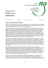 Høringssvar til Trafikstyrelsen - høring om øget akseltryk - ITD