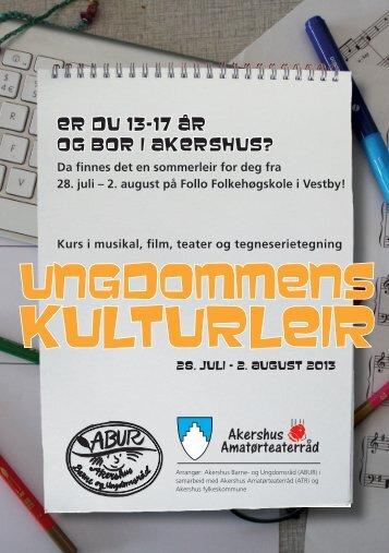 Årets brosjyre for 2013 kan laste ned her - Akershus Barne og ...