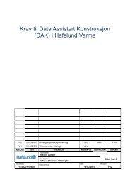 Krav til Data Assistert Konstruksjon (DAK) i Hafslund Varme