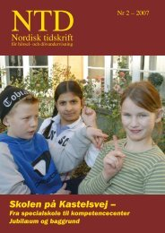NTD nr 2 - 2007 - Norsk Audiopedagogisk Forening