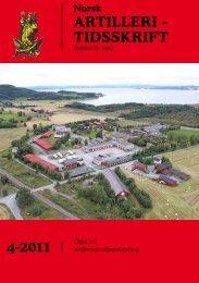 4-2011 ARTILLERI - TIDSSKRIFT - Artilleriets offisersforening