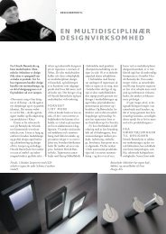 en multidisciplinær designvirksomhed - Danish Furniture On-Line