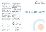 Aflæsningskort - Hillerød Forsyning