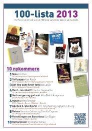 100-lista 2013 - Leser søker bok