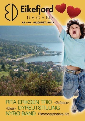 Programhefte 2011 - Eikefjord Grendalag