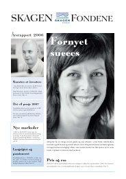 Årsrapport 2006 - SKAGEN Fondene