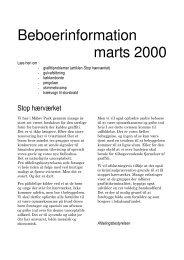 Beboerinformation marts 2000 - Måløv Park