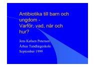 Antibiotika till barn och ungdom - Varför, vad, när och hur?