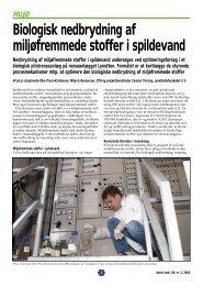 Biologisk nedbrydning af miljøfremmede stoffer i ... - Kildesamarbejdet