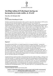 Skriftligt indlæg til Folketingets høring om hormonforstyrrende stoffer ...
