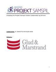 Drejebog fra Projekt Samspil mellem Uddannelse og Erhverv ...