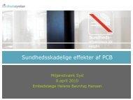 Sundhedsskadelige effekter af PCB - Miljønetværk Syd