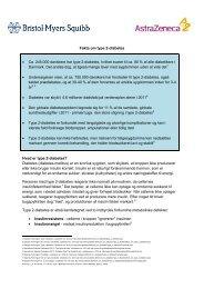 Fakta om type 2-diabetes • Ca. 245.000 danskere har type 2 ...