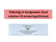Tolkning af blodprøver med relation til ernæringstilstanden ved ...