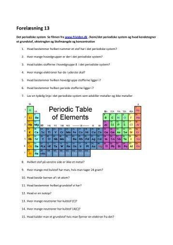 Periodiske system, mol og PH
