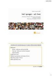 Inddragelse af flere sprog i stimuleringen af ordforråd - University ...