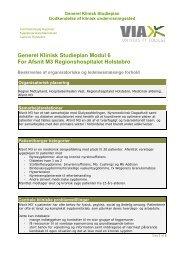 Generel Klinisk Studieplan Modul 6 For Afsnit M3 Regionshospitalet ...