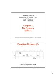 Chapter 4 File Systems (part 2) Protection Domains (2) - LRI