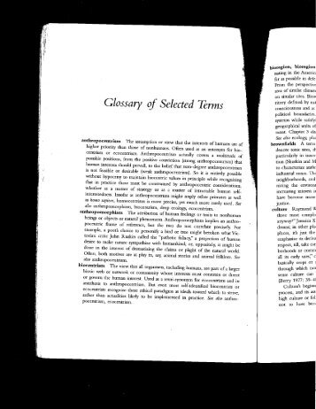Buell, Glossary of Selected Terms - University of Oregon