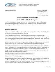 LifeScan tilbagekalder frivilligt specifikke OneTouch ... - Diabetes.dk