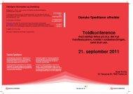 Toldkonference 21. september 2011 - Dansk Erhverv