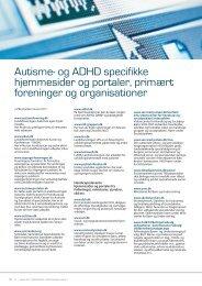 Autisme- og ADHD specifikke hjemmesider og portaler, primært ...