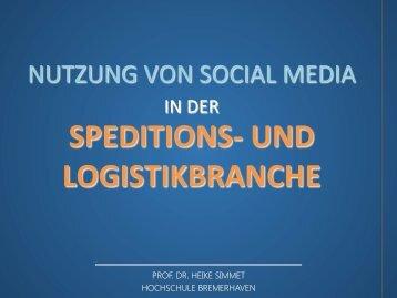 Nutzung von Social Media in Spedition und Logistik - Prof. Dr. Heike ...