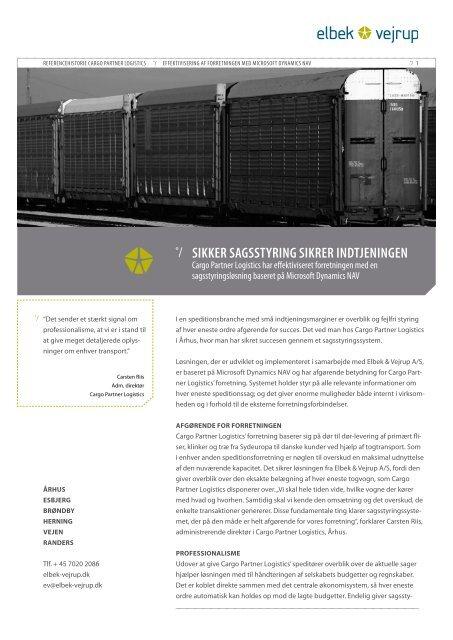 Cargo Partner Logistics her - Elbek & Vejrup A/S
