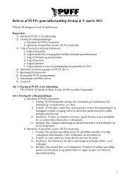 Referat af Puffs bestyrelsesmøde tirsdag d