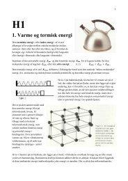 H1 1. Varme og termisk energi