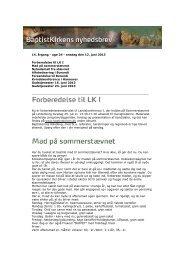 14. årgang - uge 24 - onsdag den 12. juni 2013 Forberedelse til LK I ...