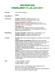 INSTRUKTION PÅSKELØBET 21.,22.,23/4 2011