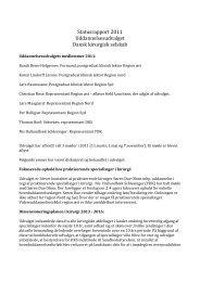 Statusrapport 2011 Uddannelsesudvalget Dansk kirurgisk selskab