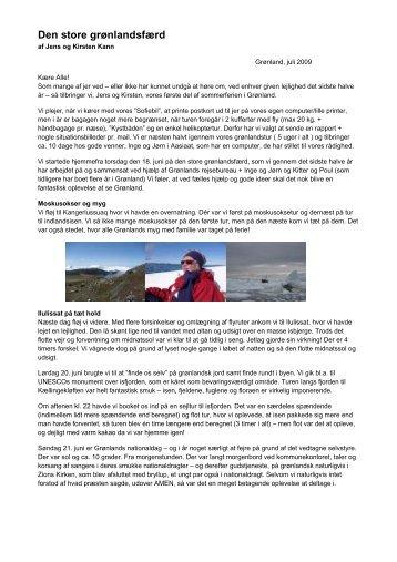 Den store grønlandsfærd af Jens og Kirsten Kann