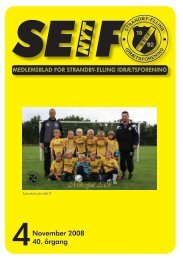4 November 2008 40. årgang - SEIF - Strandby-Elling Idrætsforening