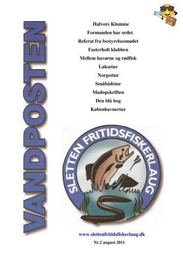 Vandposten August 2011 - Sletten Fritidsfiskerlaug