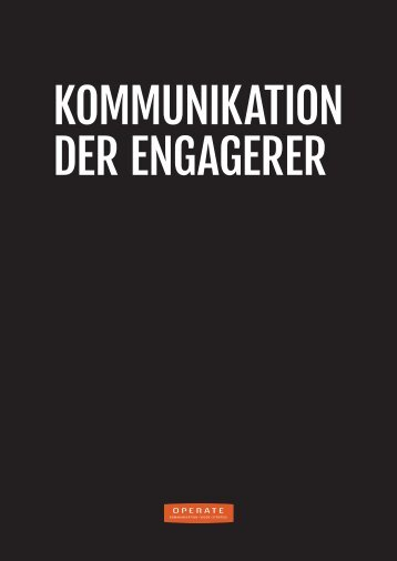 kommunikation, der engagerer - Operate