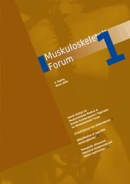 Muskuloskeletalt Forum - 1/2004 (pdf) - Fagforum for ...