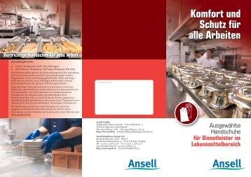 Komfort und Schutz für alle Arbeiten - Ansell Healthcare Europe