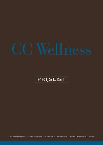 tarieven - CC Wellness