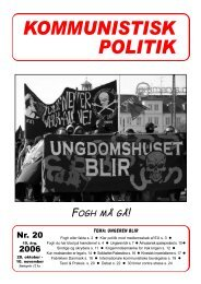 Kommunistisk Politik 20, 2006