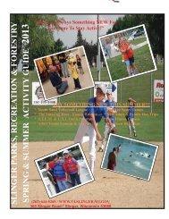 Slinger Spring/Summer Activity Guide 2013 - Village of Slinger