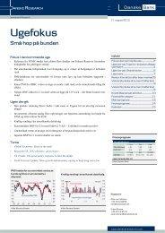 Fokus i den kommende uge - Danske Analyse - Danske Bank