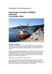 LAURENTs brand den 11. december 2005 - Søfartsstyrelsen