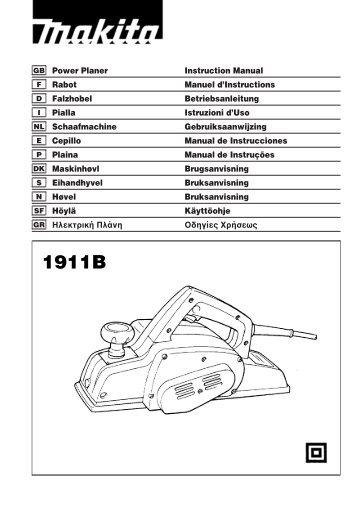 GB Trimmer Instruction Manual Affleureuse Manuel d