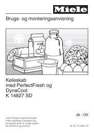 Brugs- og monteringsanvisning Køleskab med ... - Hvidt & Frit