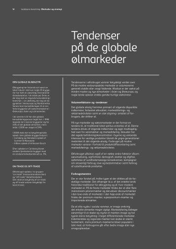 Tendenser på de globale ølmarkeder - Carlsberg Group