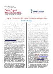 Exon-Skipping-Bericht, März 2013 - Duchenne Muskeldystrophie