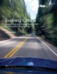 Evolving Criteria - Reinsurance Thought Leadership | Aon Benfield