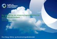 Eksponeringsscenarier Eva Haug Klif - Norsk Industri